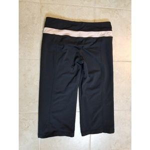 Lululemon Reversible Groove Yoga Pant Gold Band